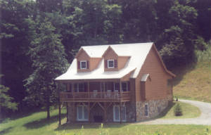 ALPENSTAR -- Boone, NC log, stone cabin New River