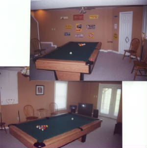 Boone NC log cabin rental with pool table, games